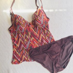 Lole Geometric Tankini Swim Suit